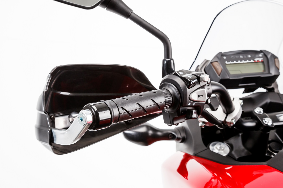 BARKBUSTERS Handguard Hardware Kit (Code: BHG-046) fitted to HONDA NC700X with STORM Guards (Code: STM-003) sold separately