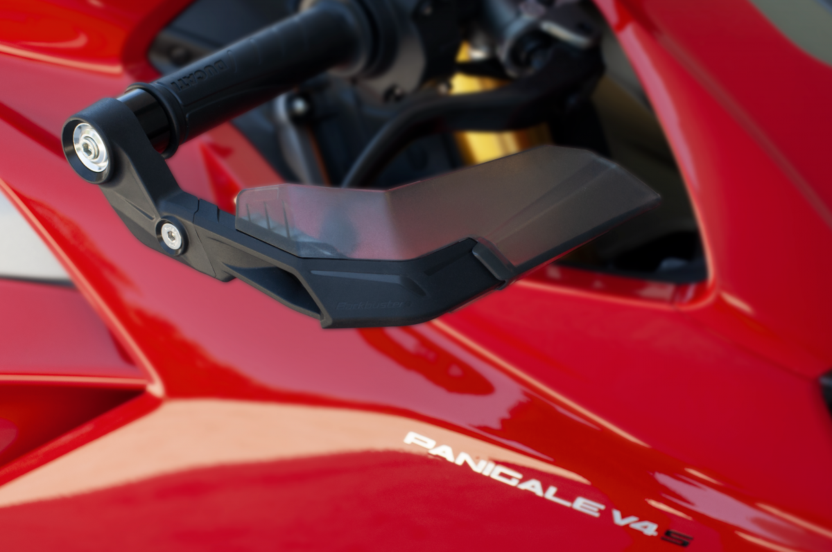 BARKBUSTERS AERO-GP Lever Protector (Code: AGP-001) fitted to DUCATI Panigale V4S