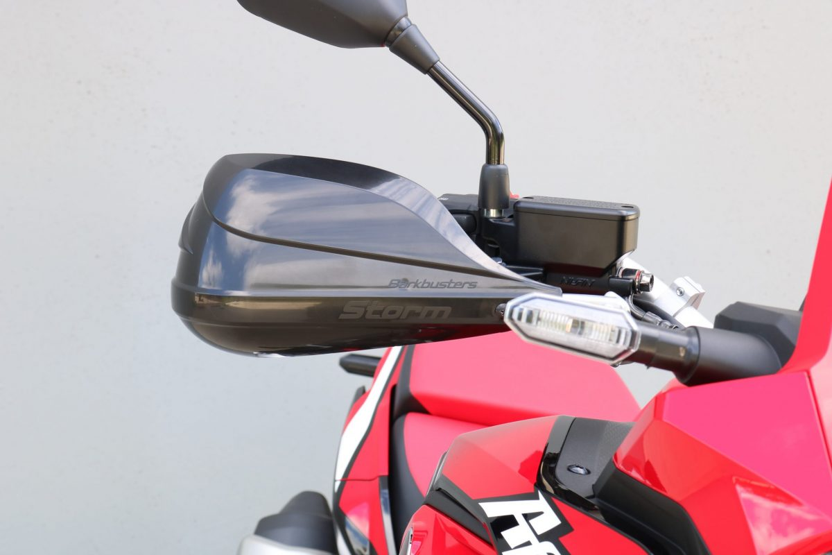 BARKBUSTERS Handguard Hardware Kit (Code: BHG-082) fitted to HONDA CRF1100L AFRICA TWIN ('20 on) with STORM Guards (Code: STM-003) sold separately