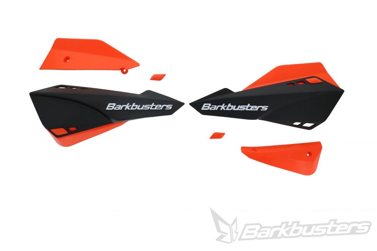 BARKBUSTERS SABRE Guards - Black with Orange Deflectors (Code: SAB-1BK-OR)